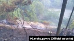 Пожар в Нахимовском районе Севастополя