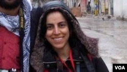 VOA freelance reporter Khajijan Farqin was detained in Diyarbakir on November 26.