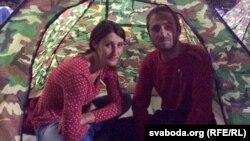 Молодёжь ночует в палатках