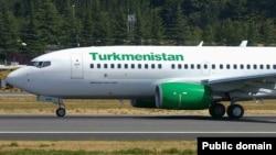 Turkmenistan Airlines компаниясының ұшағы. Көрнекі сурет.