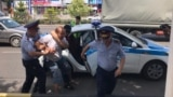 Kazakhstan - Shymkent. Presidential election, police detain activist. Shymkent 9June2019