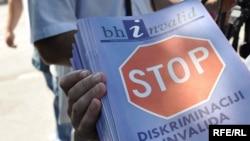 Povodom Međunarodnog dana osoba sa invaliditetom, 3. decembar 2009. Foto: Midhat Poturović