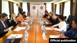 В Тбилиси во время переговоров с представителем НАТО, 21 сентября 2018