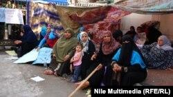 جانب من إعتصام للمعلمات في القاهرة