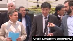"""""""Жаңы Казакстан"""" форумунун катышуучулары, Брюссель шаары, 6-апрель 2018-жыл."""