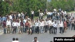 تصویری که گفته می شود از درگیری در شهر کوار است