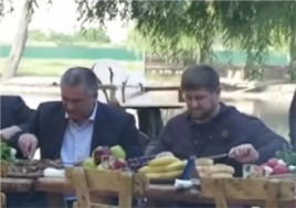 Сергей Аксенов в компании президента Чечни Рамзана Кадырова