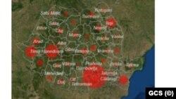 Romania- harta coroavirusului