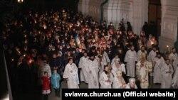 Празднование Пасхи в Святогорской лавре