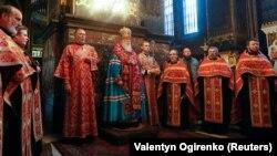 Patrijarh Filaret u glavnoj ukrajinskoj crkvi u Kijevu
