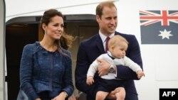 Кейт Миддлтон, Уильям принц Уэльский и их сын принц Джордж
