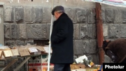 Armenia -- Street trade in Yerevan.