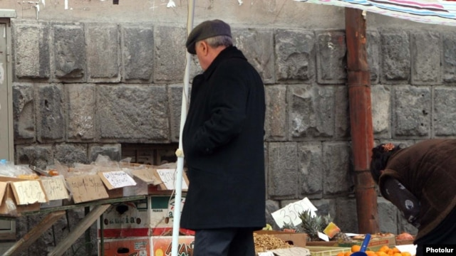 Armenia -- Street trade in Yerevan.