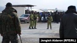 Қырғызстан мен Тәжікстан арасындағы даулы шекара аймағы. 18 желтоқсан 2013 жыл.