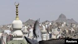 Arabia Saudite - Minareja e Xhamisë së Madhe në Meka