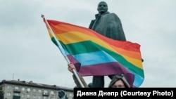 Акция в поддержку ЛГБТ в Новосибирске