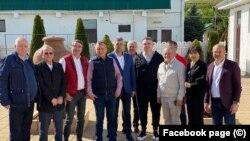 Marcel Ciolacu și Paul Stănescu, alături de mai mulți lideri locali din PSD
