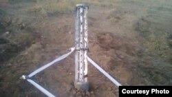 Свідчення використання проросійськими бойвиками ракетної системи «Ураган» і касетних боєприпасів, фото з Facebook Дмитра Тимчука