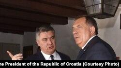 Milorad Dodik i Zoran Milanović, Zagreb 16. septembar 2020.