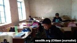 Класс для учеников начальных классов школы №101 в селе «Чияли» Чиракчинского района Кашкадарьинской области.