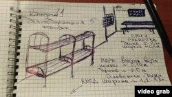 Рисунок одного из заключенных в изоляторе временного содержания на улице Окрестина в Минске
