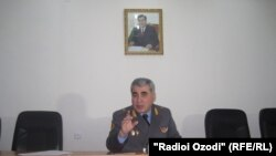 Шариф Назарзода, сардори Раёсати корҳои дохилии вилояти Суғд.