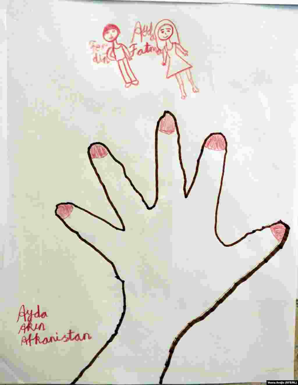 By Ayda, 8, from Afghanistan