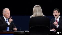 جو بایدن و پل رایان برای نخستین بار به صورت رو در رو بایکدیگر مناظره میکردند