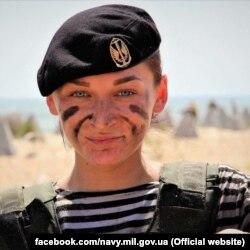 Старший лейтенант ВМС Олександра Безсмертна. Фото з офіційної фейсбук-сторінки ВМС ЗС України