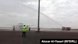 هبوط اول طائرة للخطوط الكويتية في مطار النجف