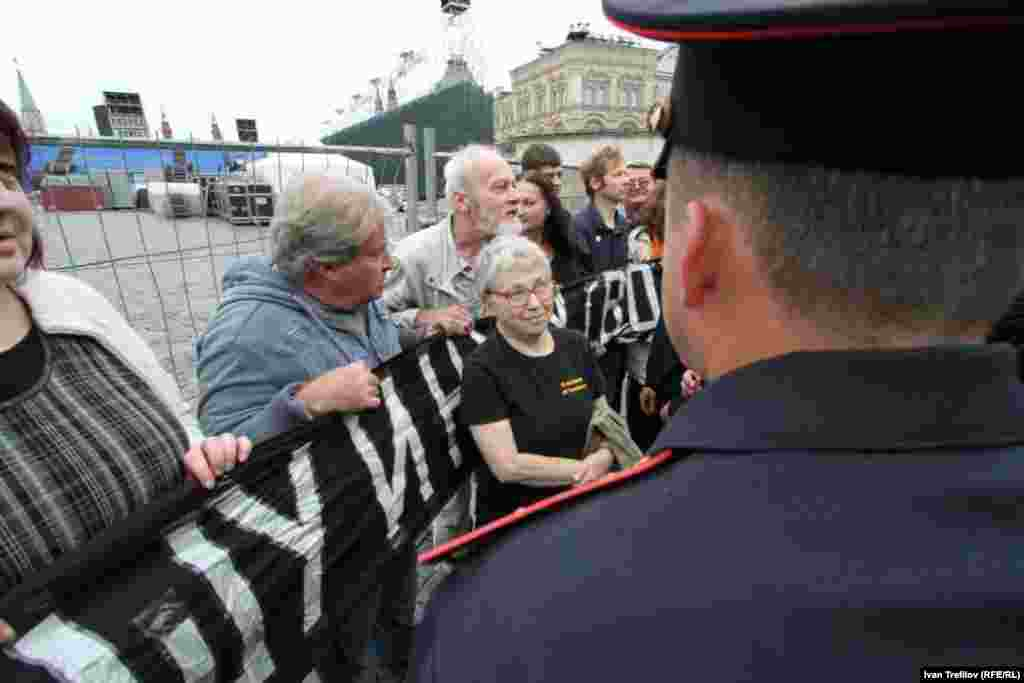 Gorbanevskaya, now 77, spent two years in a Soviet psychiatric prison for her role in the 1968 demonstration.