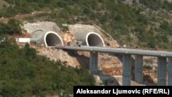 Radovi na izgradnji autoputa u Crnoj Gori