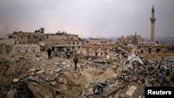 Više od polovine infrastrukture i stambenih objekata u Aleppu je djelomično ili potpuno uništeno.
