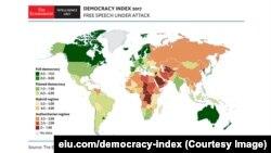 در بررسی سالانه اکونومیست نظام حاکم بر ایران استبدادی شناسایی میشود