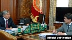 Соцфонд төлөмүн азайтуу талабын 16-февралда президент Алмазбек Атамбаев Соцфонддун жетекчиси Мухамметкалый Абулгазиев менен жолугушууда койду.