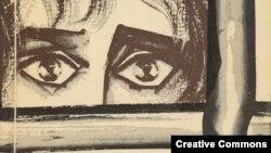 """Евгения Гинзбург. Форагмент обложки """"Крутого маршрута"""" (1967)."""