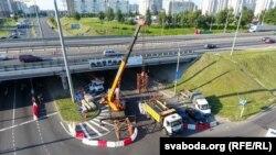 Прагіб мосту на менскай МКАД, 1 жніўня