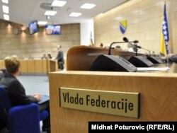 Sala u zgradi Vlade Federacije BiH - foto: Midhat Poturović