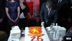 Архивска фотографија- Претседателот на ВМРО-ДПМНЕ и поранешен премиер Никола Груевски на прослава на 26 роденден на владејачката партија.
