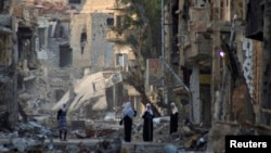 Талкаланган көчөлөрдүн бири, Сирия