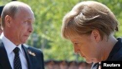 Путин и Меркель в мае 2015