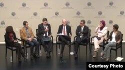 المتحدثون في ندوة المعهد الأميركي للسلام