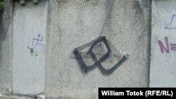 Insemn neo-nazist pe un zid la Timișora