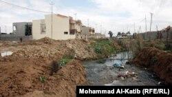 احد شوارع حي المزارع في الموصل