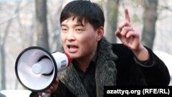 Саламат Омаш, журналист веб-сайта «Жанаозен.нет». Алматы, 25 февраля 2012 года.