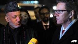 Президент Афганистана Хамид Карзай и министр иностранных дел Германии Гидо Вестервелле