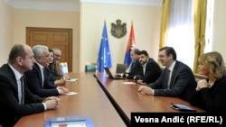 Sastanak predstavnika antivladajućih snaga Crne Gore sa premijerom Vučićem prvi je nakon navodnog pokušaja državnog udara u Crnoj Gori