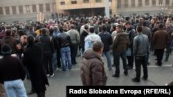 Протест на тутунарите пред Собрание