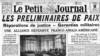 Preliminariile păcii anunțate de presa franceză (Foto: BCU, Iași)