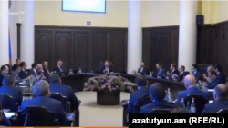 The Armenian Government in session, March 19, 2020